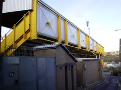 The Bradford End of Valley Parade, which was the first to be redeveloped after the ground reopened in 1986