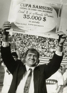 "Viorel Hizo, Rapid coach a few times, here pictured in 1994, when he won Samsung Cup with ""the Railwaymen""."