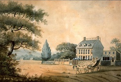 The mansion as it was in 1787 when bought by John Adams