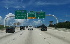 Approaching Malfunction Junction on westbound I-4