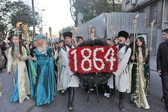 Turkish Circassians commemorate the banishment of the Circassians from Russia in Taksim, İstanbul