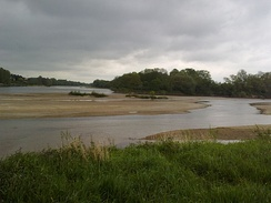 Confluence of the Allier and the Loire