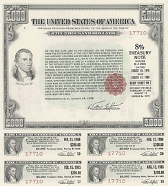 U.S. Government Bond: 1976 8% Treasury Note