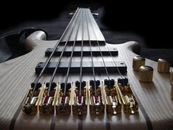 A seven-string fretless bass