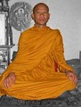A Theravada Buddhist monk in Laos