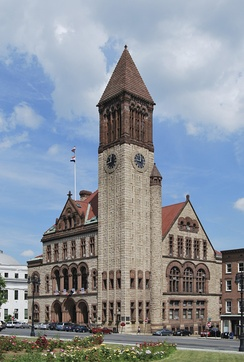 The Albany City Hall, where the Legislature met for a few days after the fire
