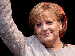 Angela Merkel, the Chancellor of Germany.