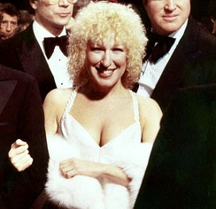 Midler at the premiere of her feature-film starring debut, The Rose, in 1979.