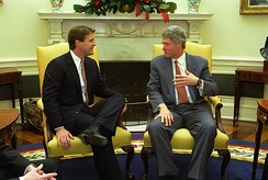 Bayh with President Bill Clinton in 1993