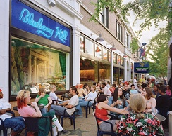 The Delmar Loop is a neighborhood which is on the border of the city and St. Louis County