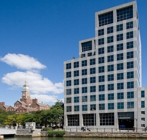 Brown's School of Public Health on the Riverwalk in Providence occupies a building designed by Edward Larrabee Barnes