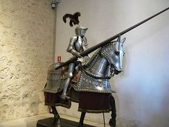 Mounted armoured knight. Armour and cavalry dominated the battlefield, until the invention of firearms.
