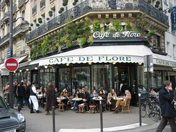 Café de Flore in Paris is one of the oldest coffeehouses in the city. It is celebrated for its famous clientele, which in the past included high-profile writers and philosophers