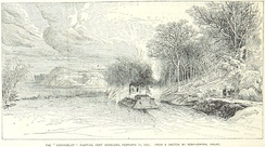 The Carondelet attacks Fort Donelson