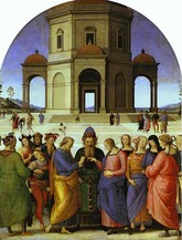 Marriage to the Virgin, Perugino, c. 1448