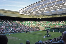 Centre Court where the Finals of Wimbledon take place