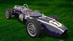 Cooper climax T54 used in the 1961 Indianapolis 500 Mile Race digital collage