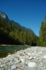 The Coquihalla River in the Canadian Cascades