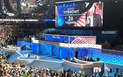 Vermont participates in the roll call vote at the 2016 Democratic National Convention