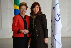 President Dilma Rousseff of Brazil and President Christina Kirchner of Argentina in 2015.