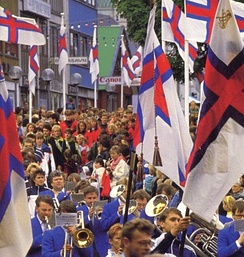 The annual Ólavsøka parade on 28 July 2005.