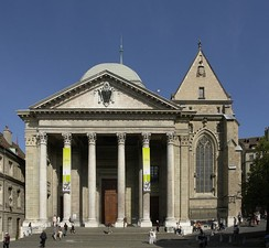 Calvin preached at St. Pierre Cathedral, the main church in Geneva.