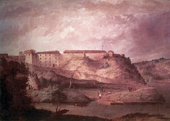 A painting of Fort Snelling.