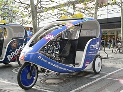 Velotaxi at the Zeil
