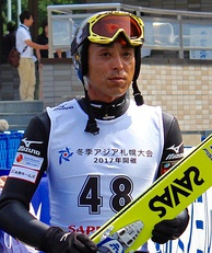 Kazuyoshi Funaki (pictured in 2014) won two gold medals and one silver for host Japan.