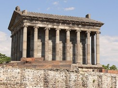 Side view of the Garni Temple.