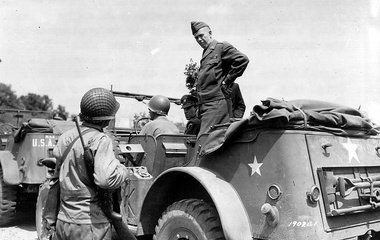 General George C. Marshall in Dodge Command Car, 1944 – photo:  U.S. Army Military History Institute