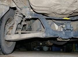 A rear independent suspension on an AWD car.