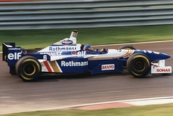 Jacques Villeneuve in the FW18 at the 1996 Canadian Grand Prix