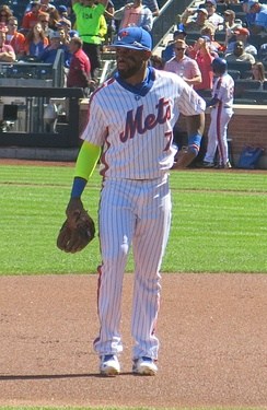 Reyes with the Mets in 2016