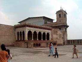 A section of the Lahore Fort built by the Mughal emperor Akbar