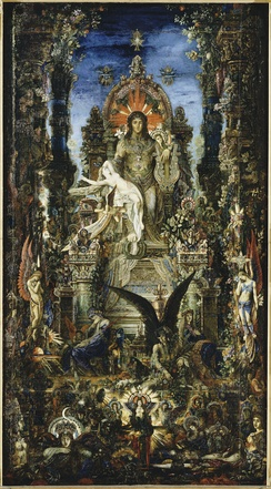 Jupiter et Sémélé. Oil on canvas by Gustave Moreau, 1895.
