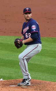 Hendriks with the Twins in 2012.