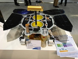 Mockup of the rover at the 69th International Astronautical Congress