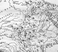 Mining map of northern Transylvania (today Romania) published in Danubius Pannonico-Mysicus, vol. 2 (1726)
