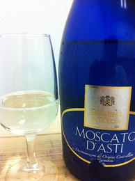 A lightly sparkling Moscato d'Asti.