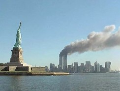 9/11: World Trade Center twin towers on fire