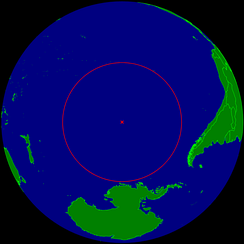 Oceanic pole of inaccessibility at 48° 52′ 36″S 123° 23′ 36″W