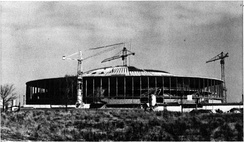Palazzo dello Sport during its construction in February 1959