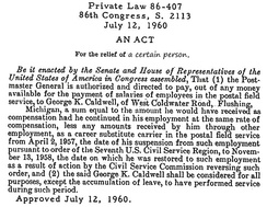 An Act of Congress from 1960.