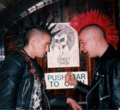 Two British punks in the early 1980s
