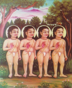 Sri Sanaka, Sanandana, Sanatana and Sanat Kumara - the four Kumaras.