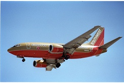 Shorter by 7 ft 10 in (2.4 m), Southwest Airlines received the first 737-500 on February 28, 1990