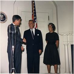 Bowles at his 1961 swearing in as President Kennedy's Special Representative.