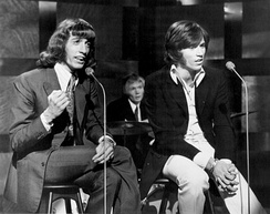 The Bee Gees performing at The Tom Jones Show in early 1969, one of the last performances with Robin as he left the group later in March