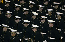 USNA Midshipmen in parade dress